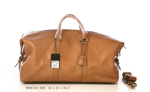Brown Small Clipper Travel bag 6949 in Natural Leather - China ...