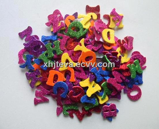 foam glitter sticker letters