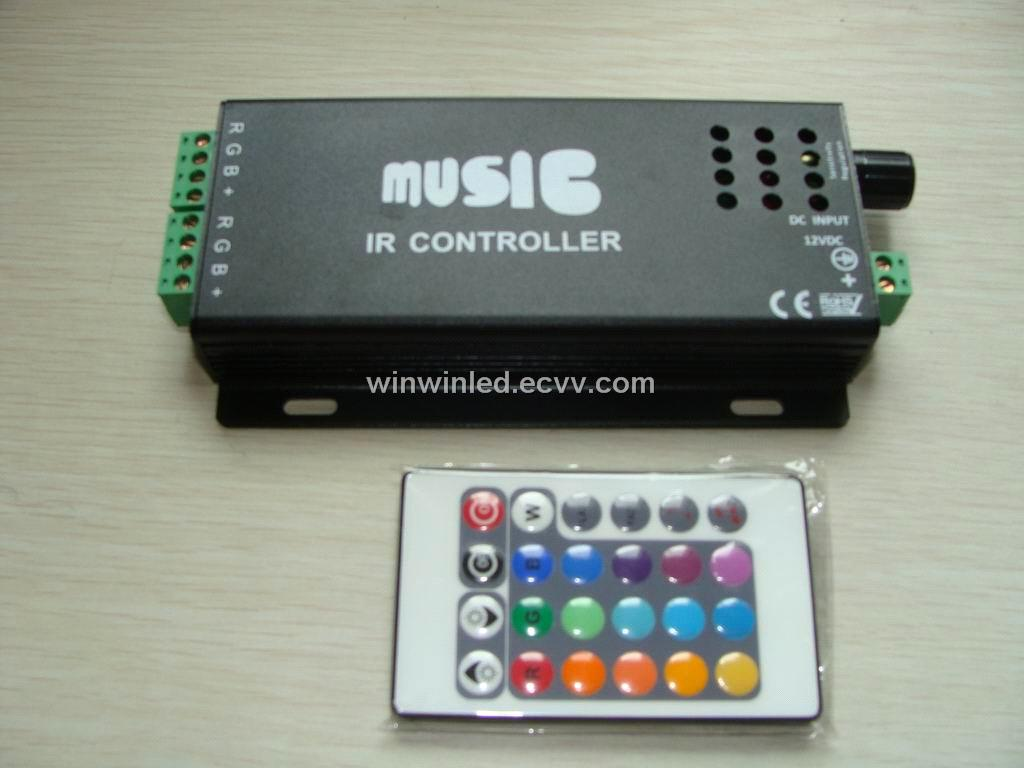 new arrival wireless rgb controller for led strip music. Black Bedroom Furniture Sets. Home Design Ideas