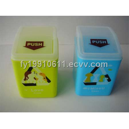 Plastic mini waste bin, mini garbage box; garbage can; table rubbish