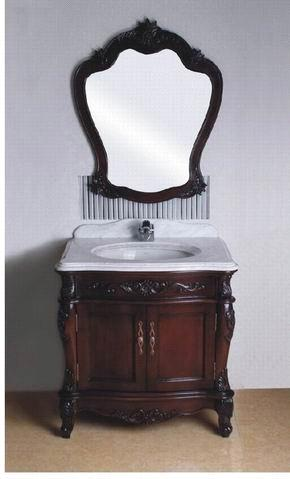 Solid wood bathroom cabinet FG-016D085