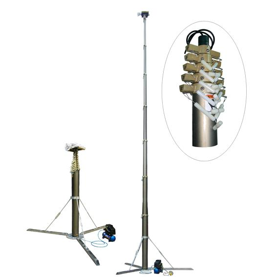 Portable Light Tower Price: Penumatic Telescopic Mast/mobile Mast/lighting Mast