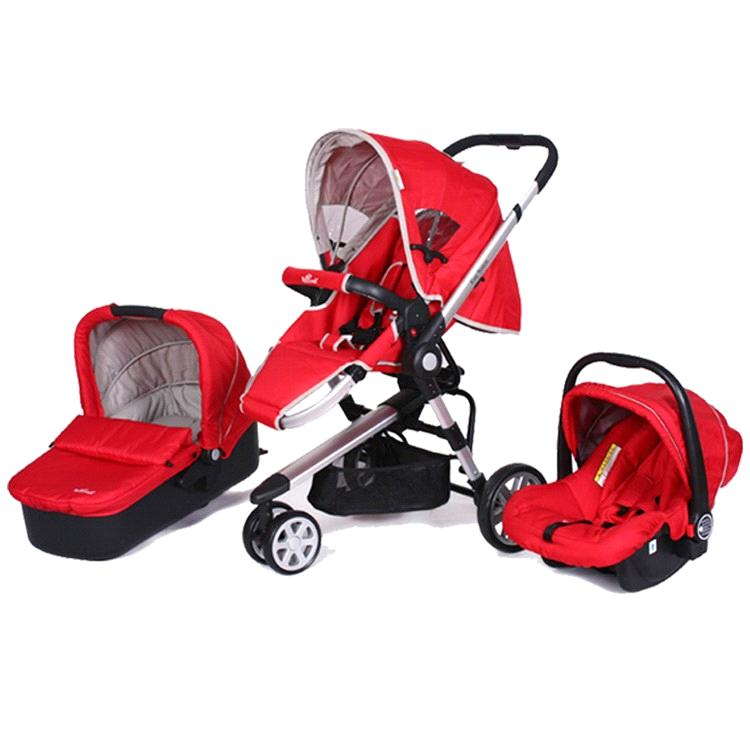 3 in 1 baby stroller with carry cot and car seat - China baby stroller