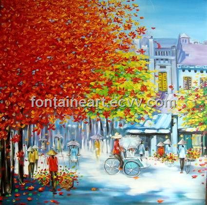 Landscape oil painting gt colorful landscape scenery oil painting