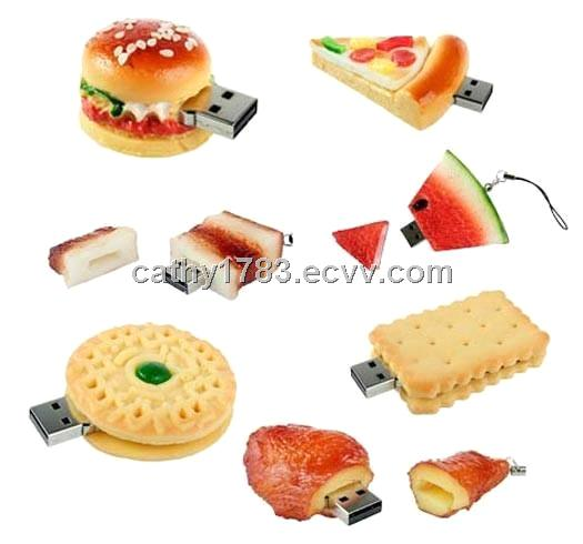 Hamburger usb pvc food usb flash drive rubber food usb pen - Cuisine flash but ...