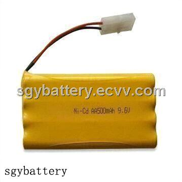 AA 500mAh 9.6V Ni-CD Battery Pack