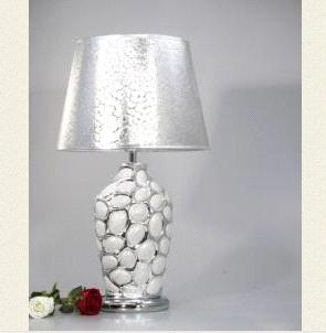 Modern Ceramic Table Lamps: 1 Light Ceramic and Metal Art Silver Table Lamp in Green and Gold VT801  Silver,Lighting