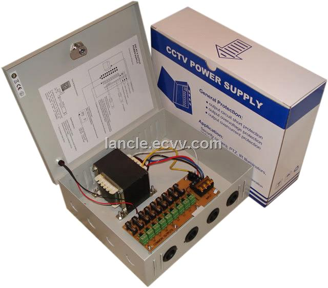 24VAC CCTV power supply with 9ch output