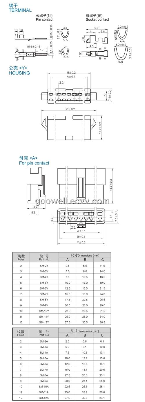 sm pitch bar connector  pcb connectors  xh connector  ph  jst 1 0  1 25mm  1 5mm purchasing  souring