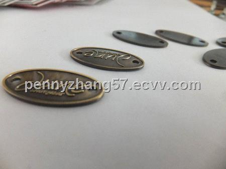 Furniture Label Metal Logo Metal Plate Handbag Logos Custom Metal