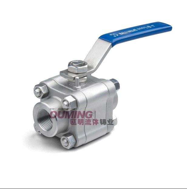 Stainless steel pc high pressure ball valve q f lb
