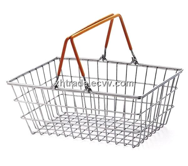 Shopping Basket / Supermarket Hand Basket / Iron Wire Basket
