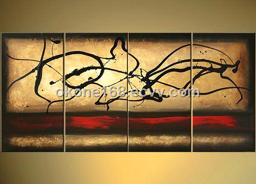 Modern abstract oil painting on canvas farbic (NA17) - China ...