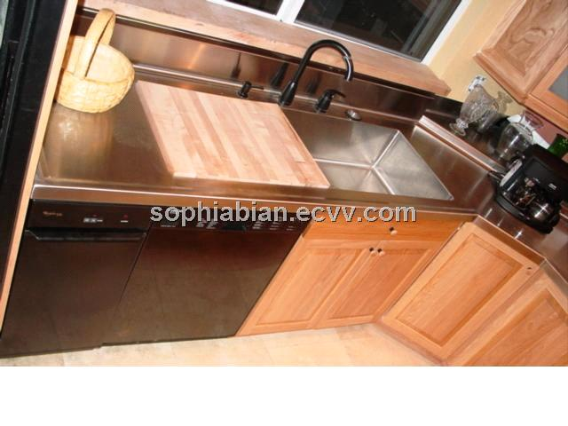 Stainless steel countertop with built in sink purchasing for Stainless steel countertop with built in sink