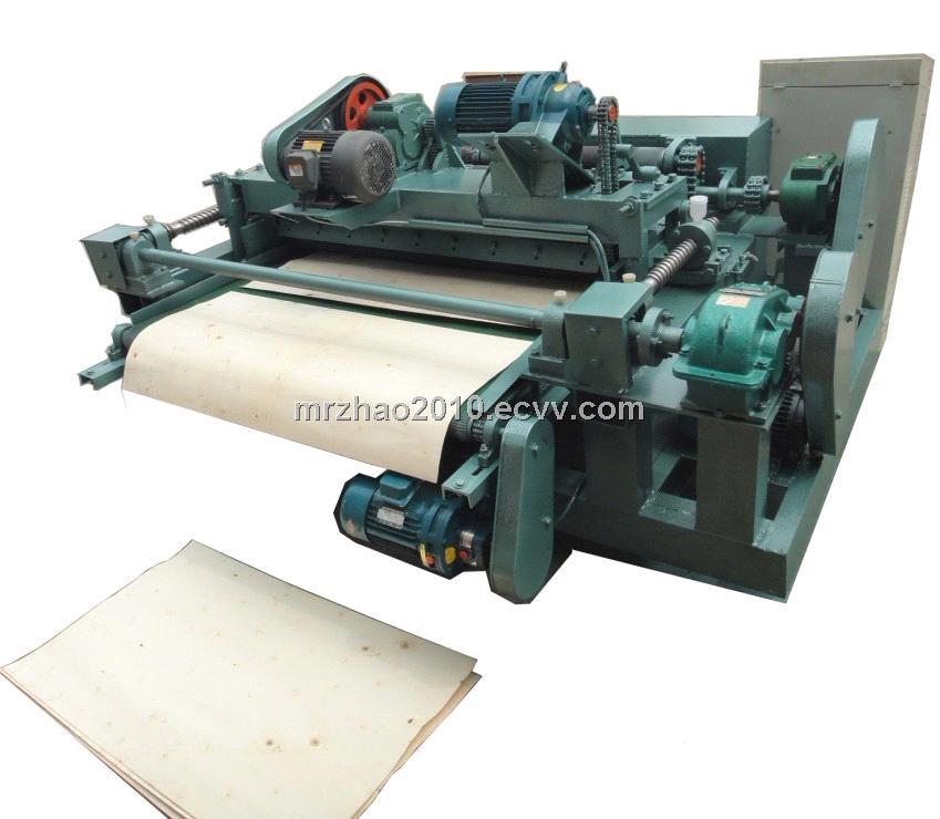 CNC spindle less wood veneer peeling cutting lathe machine ...