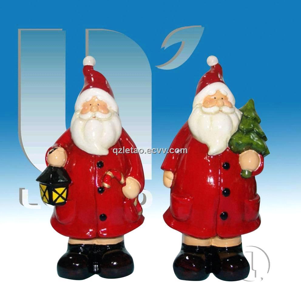 New style ceramic christmas santa claus figurine