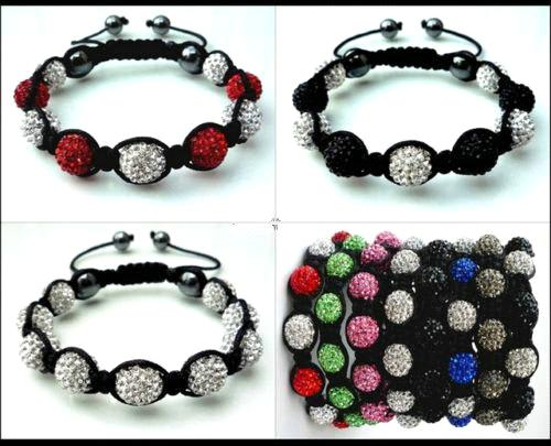 2012 New High Quality Shamballa Bracelet With Crystal Disco Ball 20080102