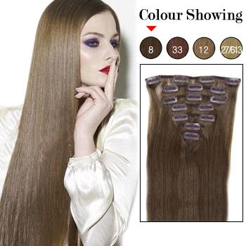 ... Brown #8 Remy Clip In Hair Extensions - China brown hair extensions