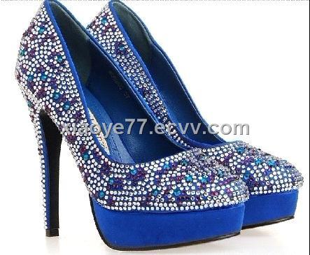 Туфли На Каблуке Синего Цвета