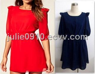 Chiffon Casual Dress ( DRC1021 ) (DRC1021) - China Dress