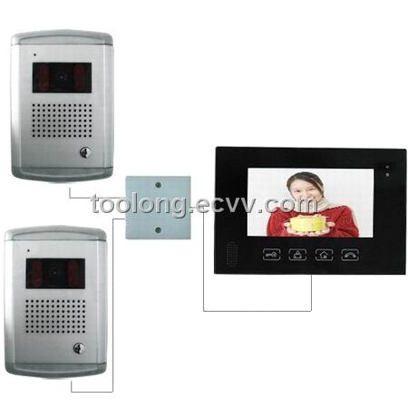 Home Security Camera with 2 Outdoor Unit Intercom +2pcs Nightvision Camera
