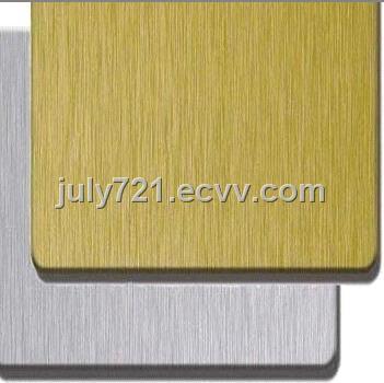 sell brushed curtain building materials aluminum composite panel PVDF ...