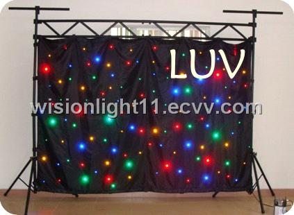 supply led star curtain led curtain light in China for wedding backdrops