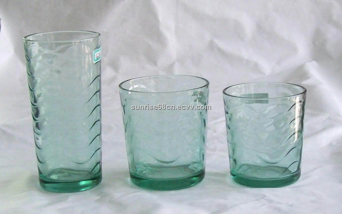 High Quality Machine Made Color Glasses Drinking Glasses