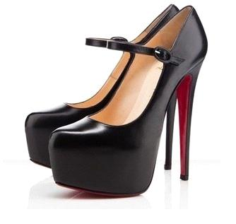 Thin Heel 14cm Red Bottom Pumps - Black (Z0091)