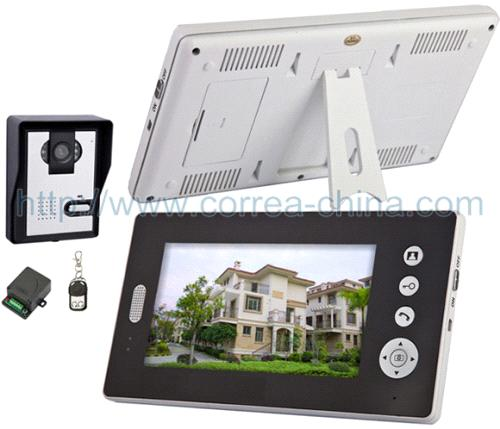 7 inch wireless video door phone and intercom system