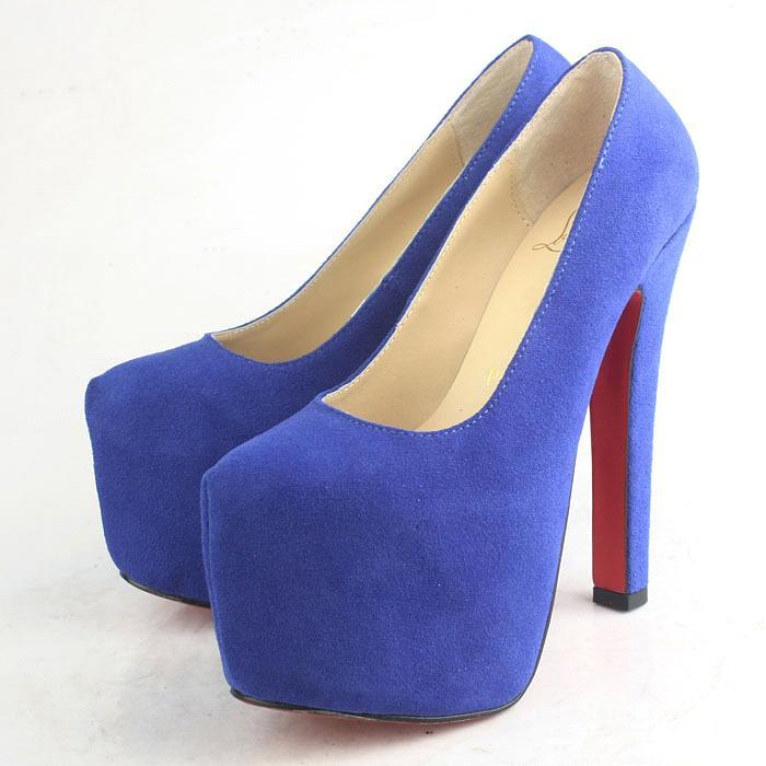 Womens Red Crossover Strap Ladies Red Sole Stiletto Platform Heel