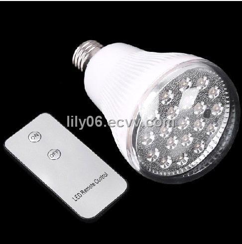 Led Light Bulbs With Remote: E27 20 LED Bulb Remote Control LED Light Bulb Lamp,Lighting