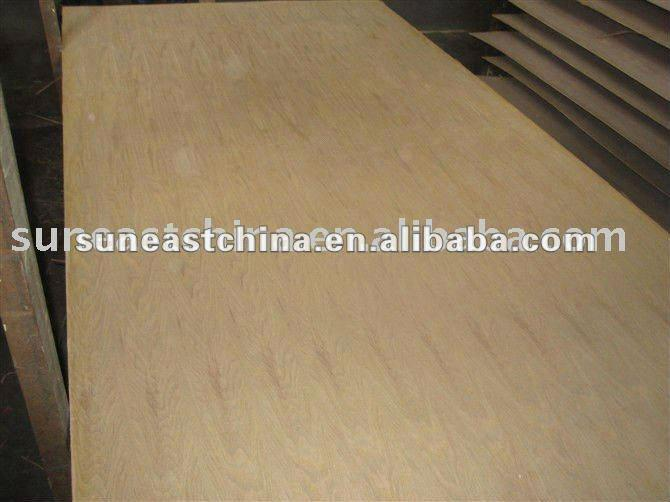 Natural ash plywood veneer straight line