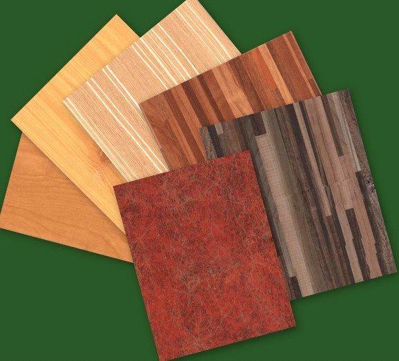Paper Faced Plywood ~ Glossy wood grain polyester plywood paper overlay