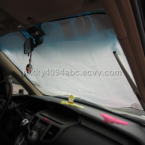 2012 durable 100%silicone front car sunshade