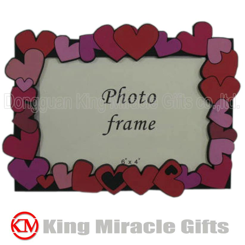 Photo Frame  gt  Heart Design Soft PVC 2D Picture Frame for KidsPhoto Frame Design For Kids