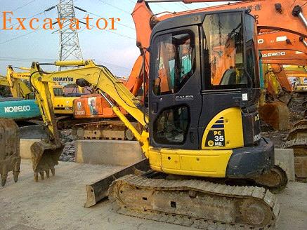 Used Komatsu PC 35 Crawler Mini Excavator