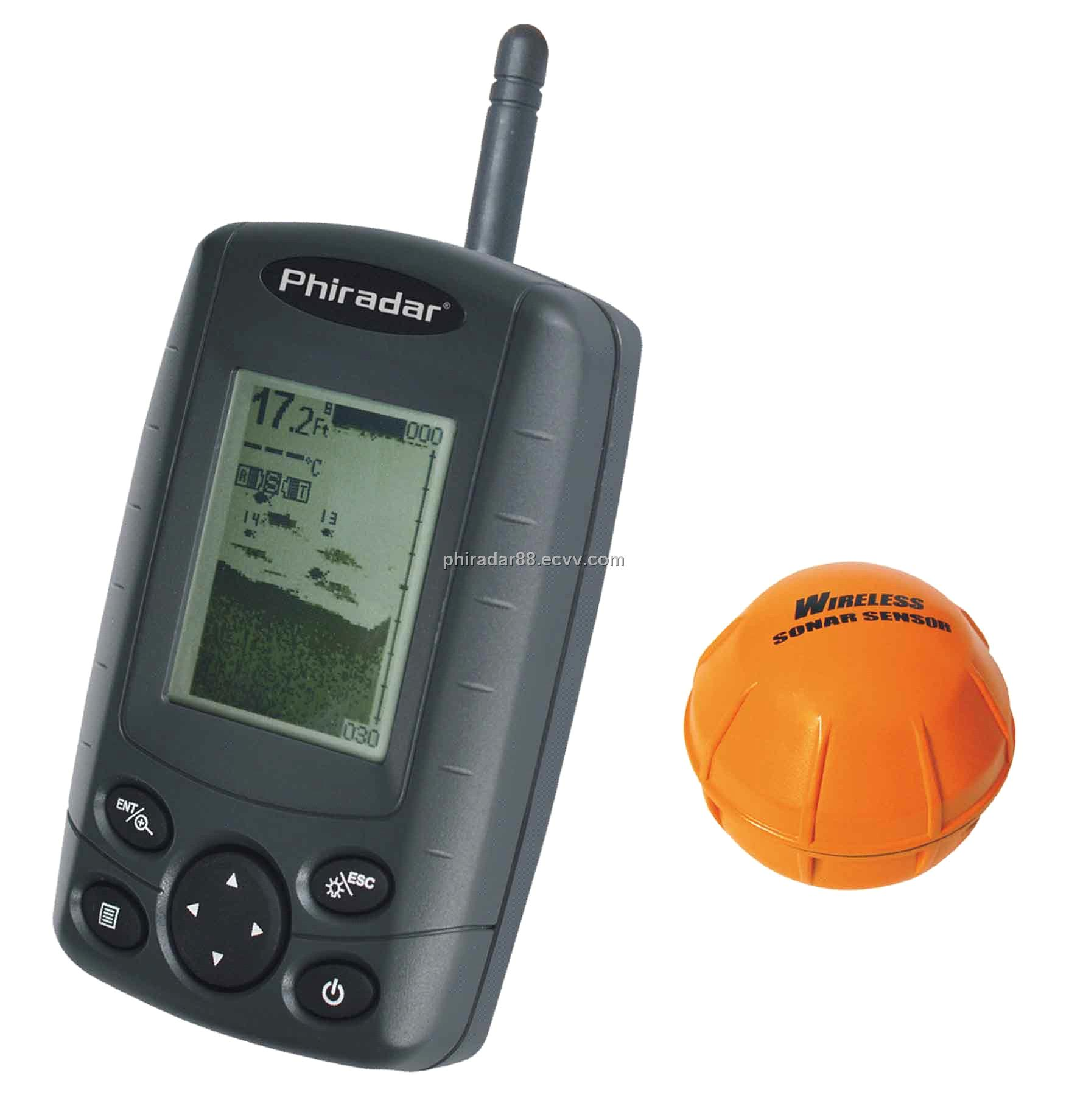 wireless fish finder with 4 levels grayscale ff168w (ff168w, Fish Finder