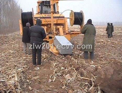 wire burying machine