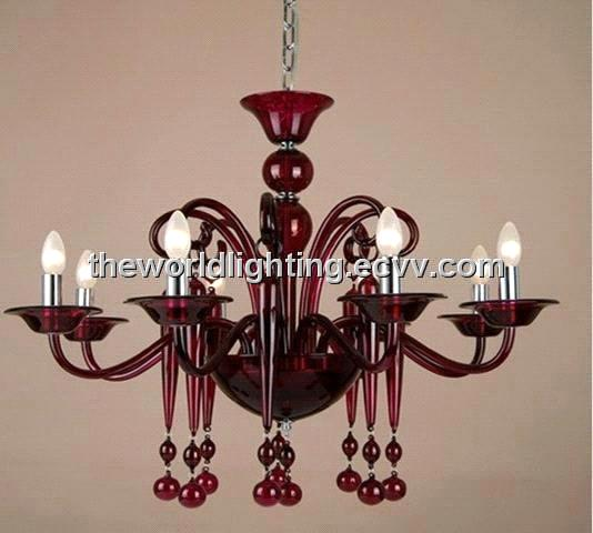 Gc0073 red glass chandelier with 8 lights purchasing souring agent gc0073 red glass chandelier with 8 lights mozeypictures Choice Image