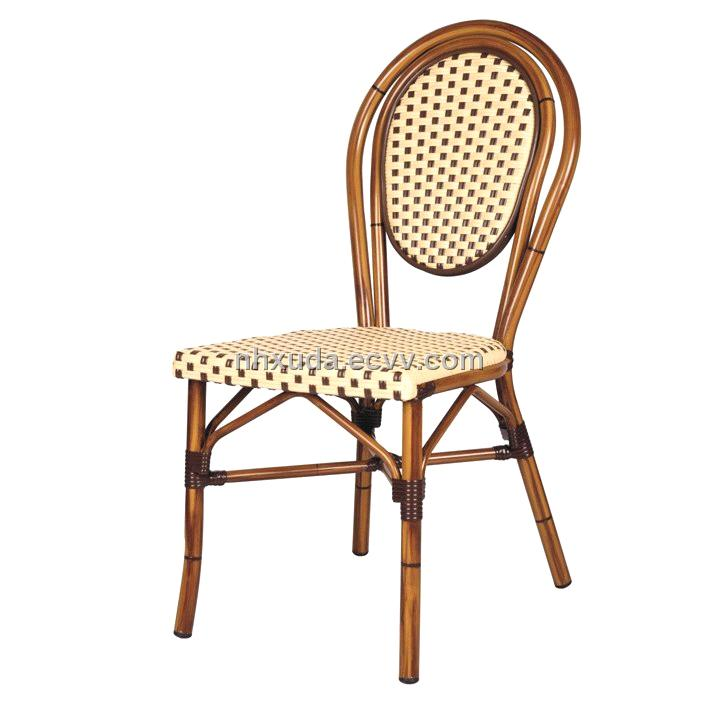 aluminum wicker chair aluminum bamboo look wicker chair round back