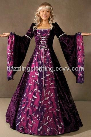 Women Dress on Women Medieval Gown Dress Princess Costume Dc1006   China Evening