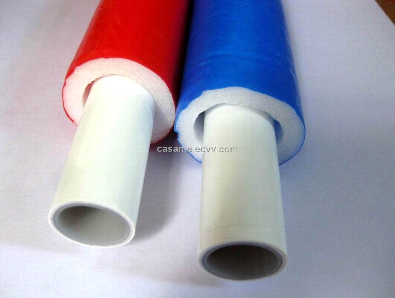 Insulation pipes pex tubes in rolls for underfloor heating for Pex water pipe insulation