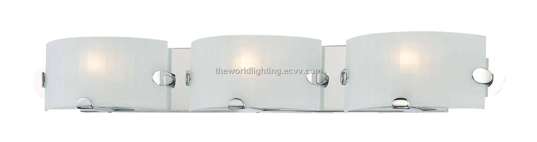 Bl6009 Chrome Metal Stand Glass Cover Modern Bathroom Vanity Light With 3 Bulbs China Purchasing