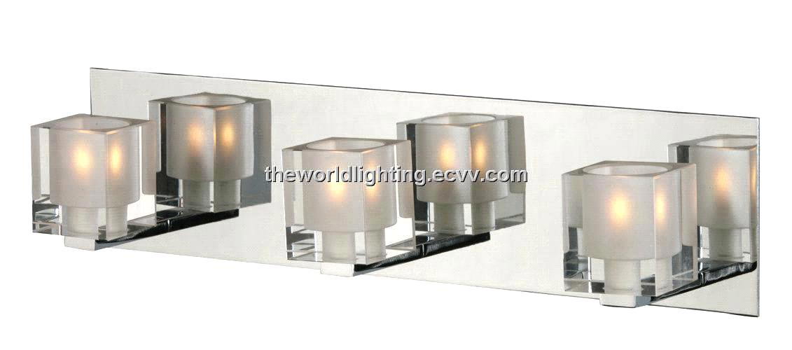 Vanity Light Glass Cover : Chrome Metal Stand Glass Cover Modern Bathroom Vanity Light with 4 Bulbs (BL6007) purchasing ...