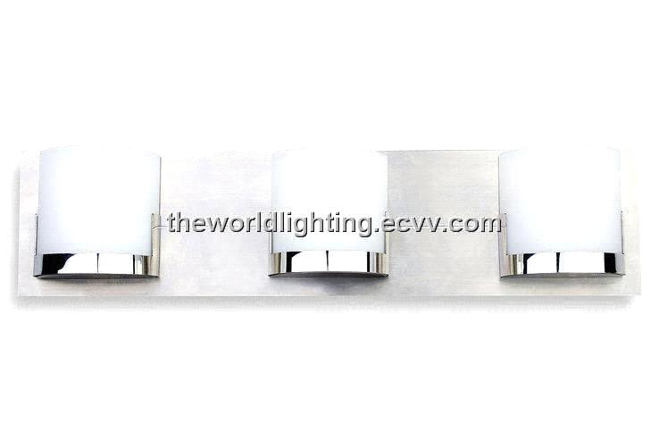 Chrome Metal Stand Glass Cover Modern Bathroom Vanity Light with 4 Bulbs (BL6007) purchasing ...