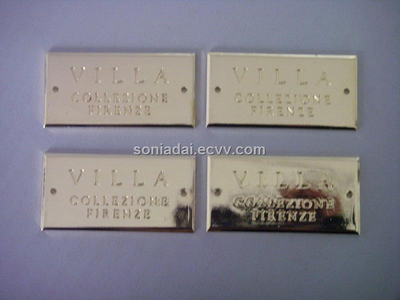 Aluminum Metal Label Adhesive Label Metal Adhesive