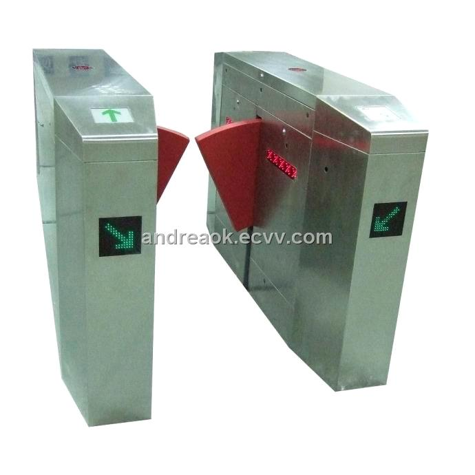 Automatic security gate flap barrier with ic id access