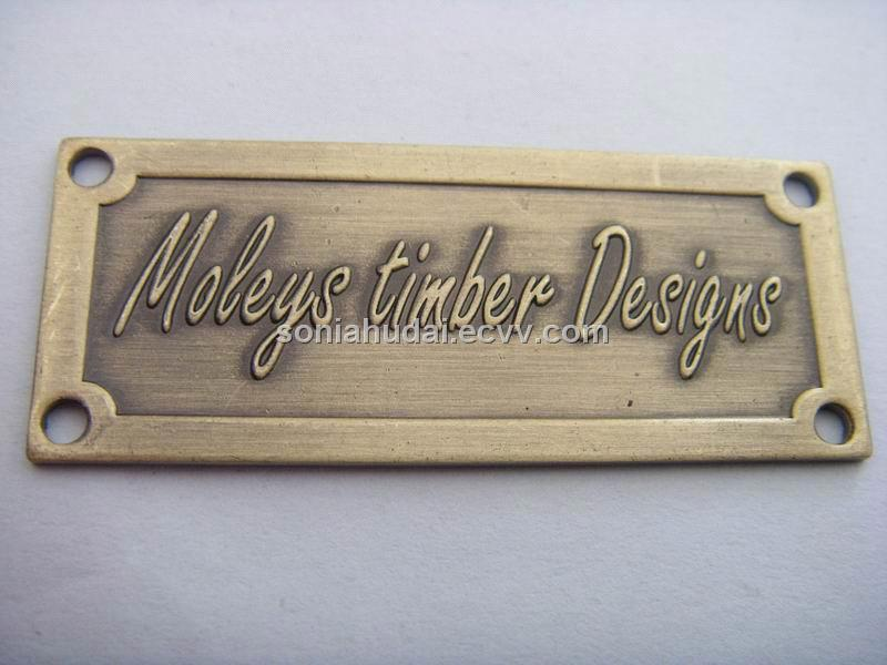 Catalog Furniture Label Brass Label Brass Nameplate Custom Label
