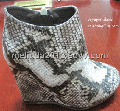 Fish scale women wedge boots purchasing souring agent for Fish scale boots